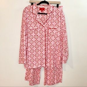 VICTORIA'S SECRET Pink & Red Snowflake Pajama Set